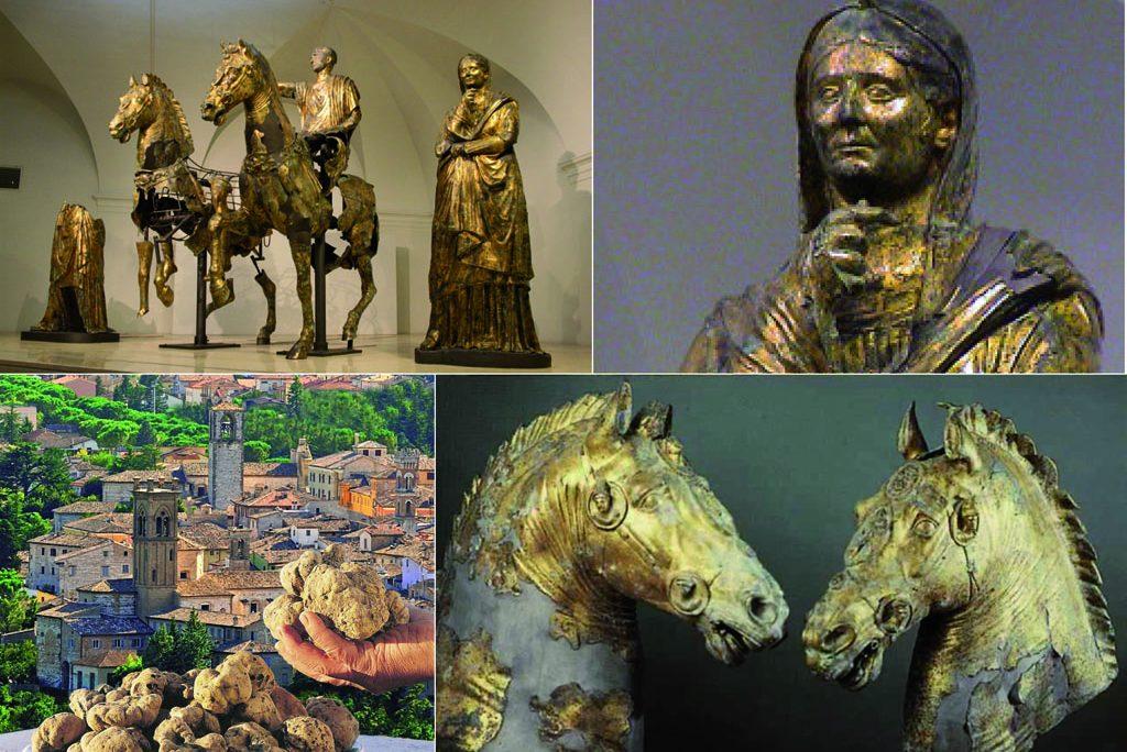 Pergola bronzi dorati da Cartoceto, un tesoro antico da visitare