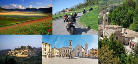 RIDING AROUND BY MOTORBIKE IN LE MARCHE: ITINERARY ALONG THE SIBILLINI MOUNTAINS TOWARDS THE INLAND.