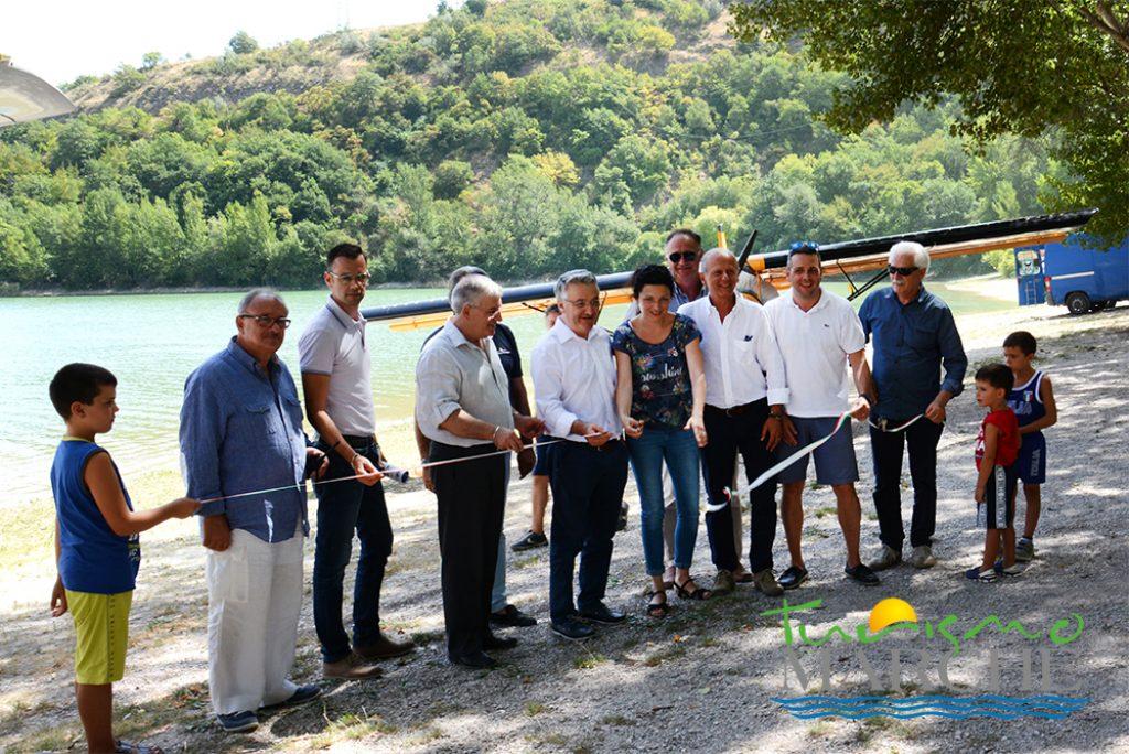 La prima discesa degli idrovolanti sul Lago di Caccamo