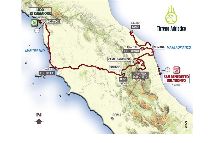 Il programma della Tirreno-Adriatico 2018