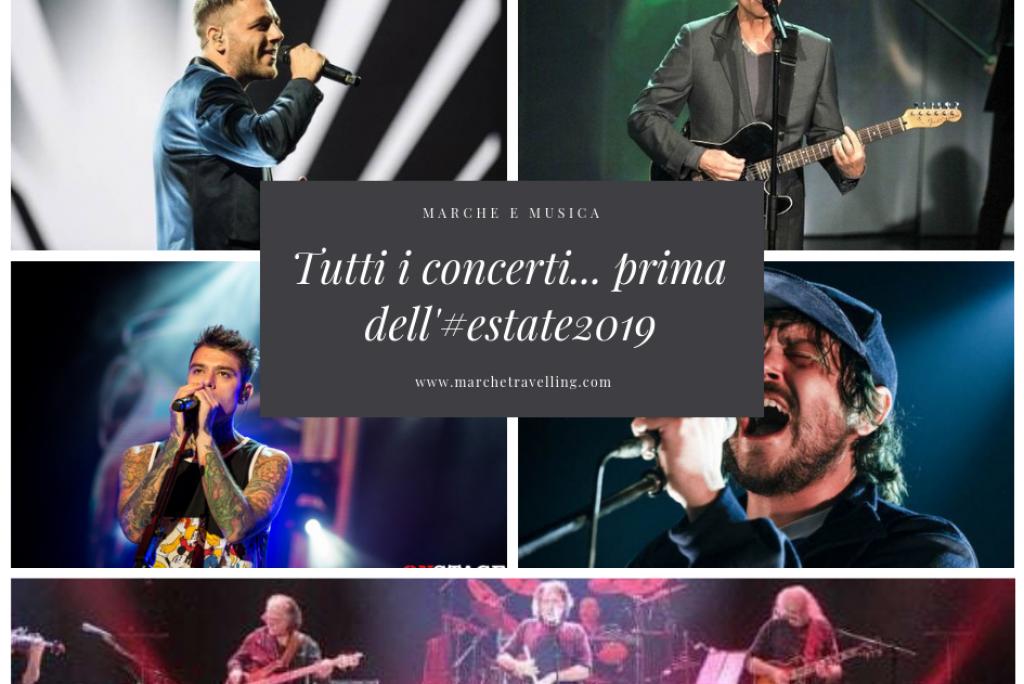 L'elenco di tutti i concerti fino all'Estate2019